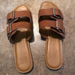 Franco Sarto tan buckle sandals